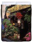 Paris Wine Store Duvet Cover