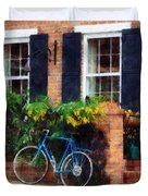 Parked Bicycle Duvet Cover