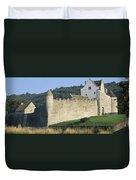 Parkes Castle,co Sligo,irelandpanoramic Duvet Cover