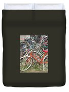 Parking Bicycles In Mako Duvet Cover