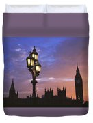 Parliament And Light At Sunset Duvet Cover