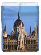 Parliament Buildings On River Danube Duvet Cover