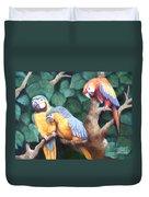 Parrot Painting Duvet Cover