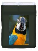 Parrot Squawking Duvet Cover