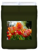 Parrot Tulips In Philadelphia Duvet Cover by Mother Nature