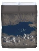 Part Of The Dead Sea And Parts Duvet Cover by Stocktrek Images