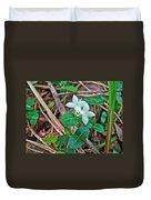 Partridge Berry Flower - Mitchella Repens Duvet Cover