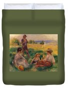 Party In The Country At Berneval Duvet Cover