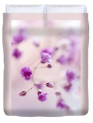 Passion For Flowers. Purple Pearls Of Gypsophila Duvet Cover