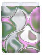 Pastel Colored Teardrop Fractal Duvet Cover