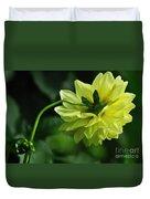 Pastel Lemon Dahlia 2 Duvet Cover