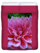 Pastel Pink Dahlia Duvet Cover