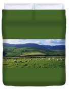 Pastoral Scene Near Anascual, Dingle Duvet Cover