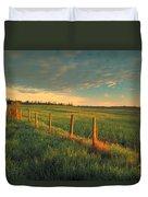 Pasture Sunrise Duvet Cover