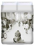 Patan In Kathmandu Duvet Cover