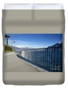 Path On An Alpine Lakefront Duvet Cover
