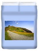 Path To Cabot Tower On Signal Hill Duvet Cover by Elena Elisseeva