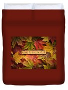 Patience-autumn Duvet Cover