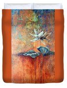 Patina Lotus Duvet Cover