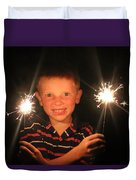 Patriotic Boy Duvet Cover by Kelly Hazel