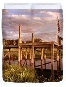 Patriotic Dock Duvet Cover