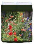 Patriotic Flowers Duvet Cover