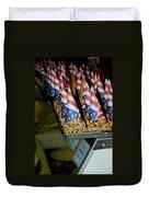 Patriotic Treats Virginia City Nevada Duvet Cover