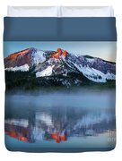 Paulina Peak Reflections Duvet Cover