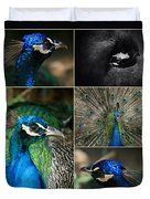 Pavo Cristatus IIi The Heart Of Solitude  - Indian Blue Peacock  Duvet Cover