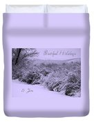 Peaceful Holidays To You Duvet Cover