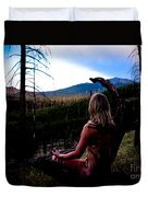 Peaceful Meditation - Nude Duvet Cover