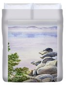 Peaceful Place Morning At The Lake Duvet Cover