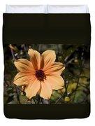 Peach Flower Duvet Cover
