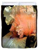 Peach Iris Digital Art Duvet Cover