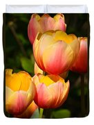 Peachy Tulips Duvet Cover