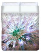 Peacock Dandelion - Macro Photography Duvet Cover