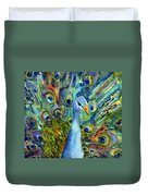 Peacock Party Duvet Cover