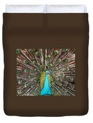 Peacock Plumage Feathers Duvet Cover