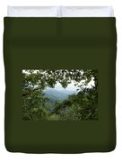 Peak At The Mountains Duvet Cover