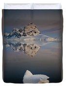 Peak On Wiencke Island Antarctic Duvet Cover by Colin Monteath