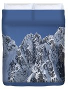 Peaks Of Takhinsha Mountains Duvet Cover