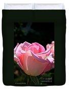 Pearl Pink Petals Duvet Cover