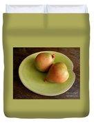 Pears On Heart Plate Duvet Cover