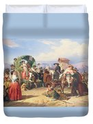Peasants Of The Campagna Duvet Cover