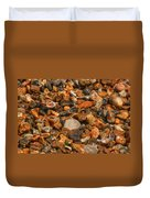 Pebbles And Stones On The Beach Duvet Cover