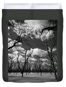 Pecan Trees Duvet Cover