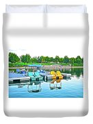 Pedal Boats Duvet Cover
