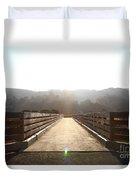 Pedestrian Bridge At Martinez Regional Shoreline Park In Martinez California . 7d10534 Duvet Cover
