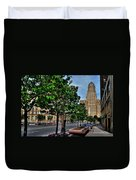 Pedestrian View Of City Hall Horizontal  Duvet Cover