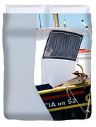 Peek-a-boat Duvet Cover